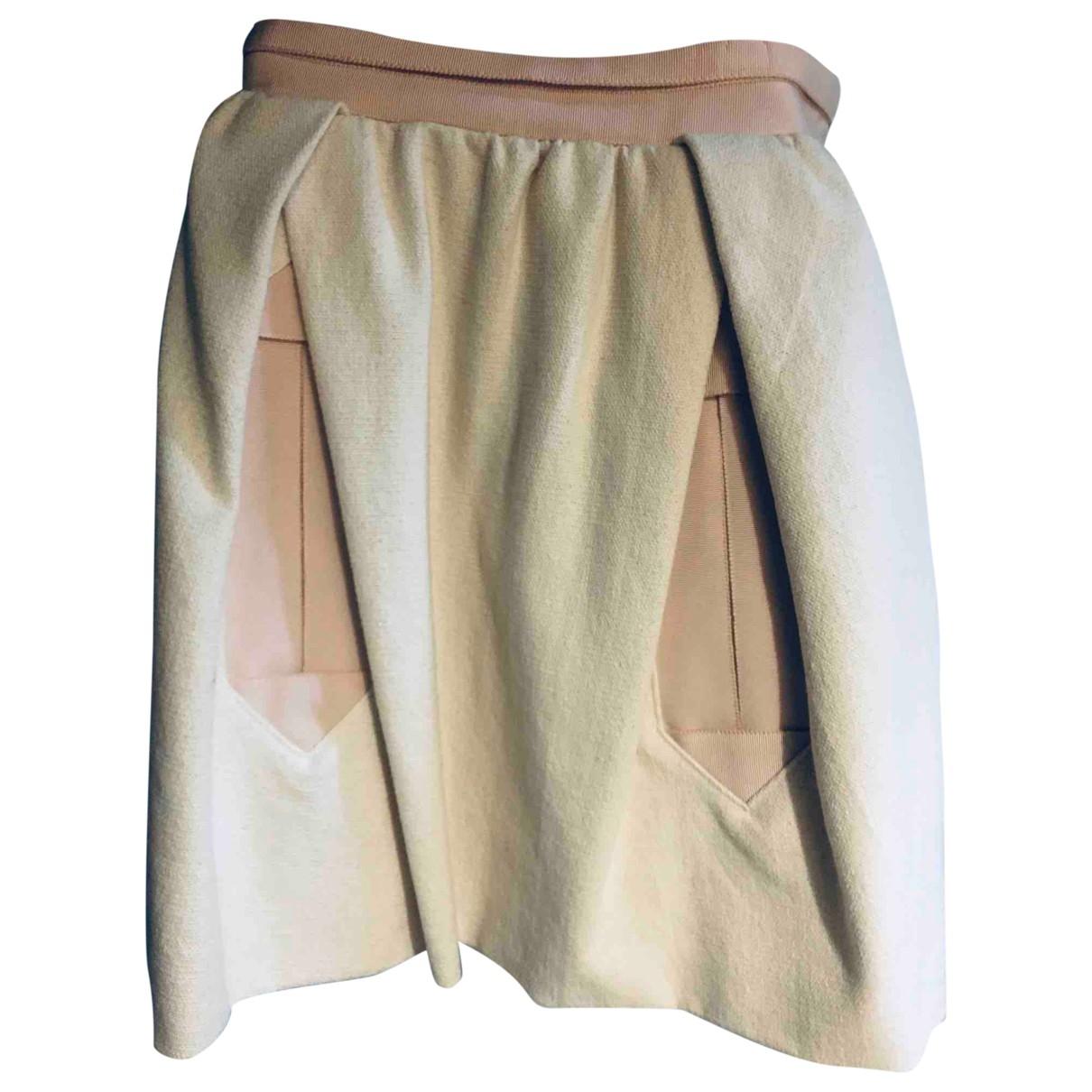Carven \N Beige Cotton skirt for Women 38 FR