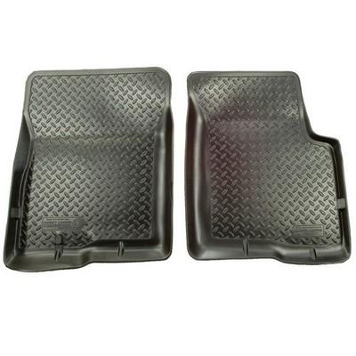 Husky Classic Style Floor Liners - Front (Black) - 35111