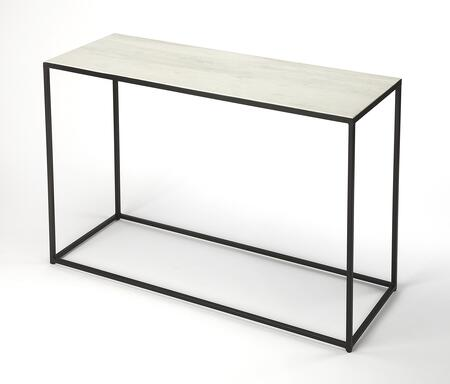 Phinney Collection 9387389 Console Table with Modern Style  Rectangular Shape and Iron Metal Material in Marble and Metal