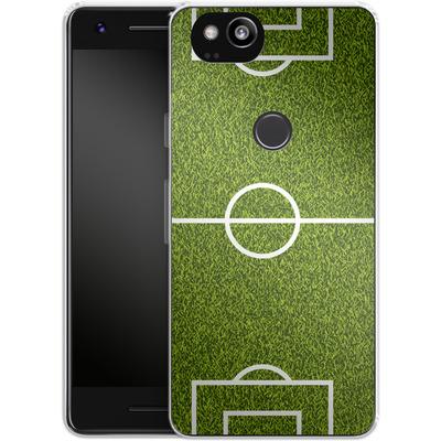 Google Pixel 2 Silikon Handyhuelle - Soccer Field von caseable Designs