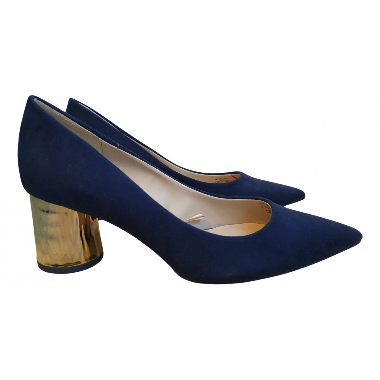 Zara \N Pumps in  Blau Polyester