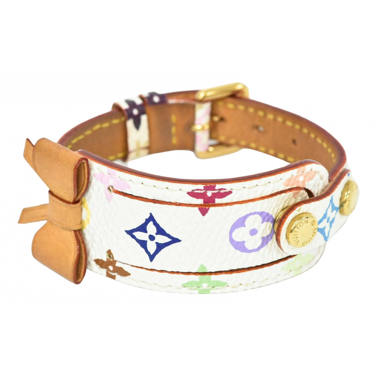 Louis Vuitton \N Armband in  Weiss Leinen