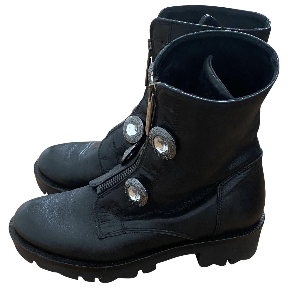 Tosca Blu - Boots   pour femme en cuir - noir