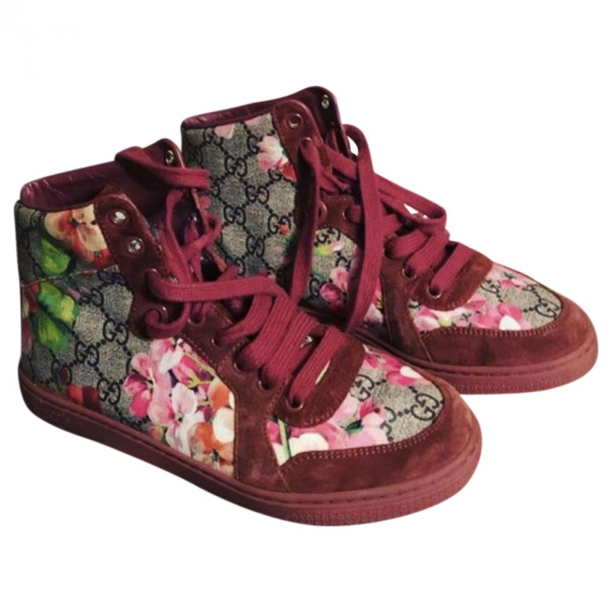 Gucci - Baskets Gucci Dapper Dan pour femme en toile - rose