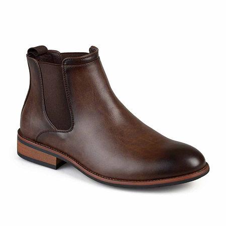 Vance Co Mens Landon Chelsea Chelsea Boots, 7 1/2 Medium, Brown
