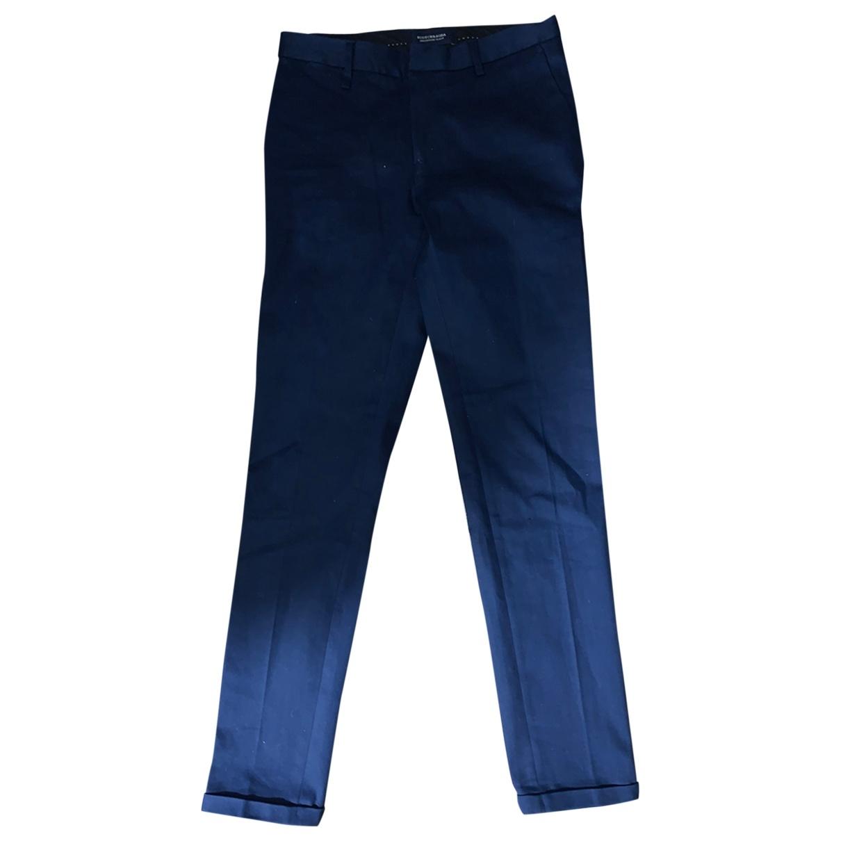 Scotch & Soda \N Navy Wool Trousers for Men 28 UK - US