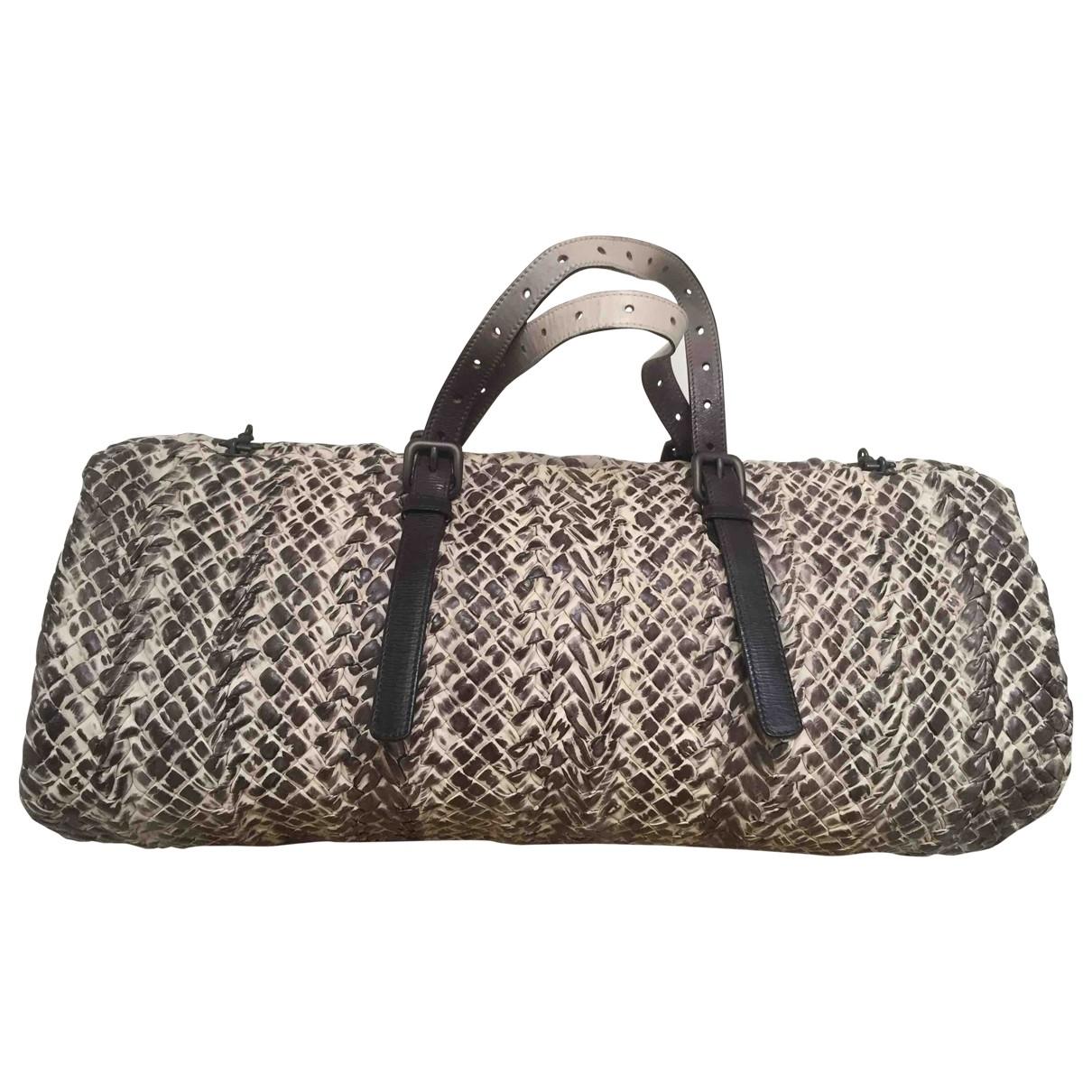 Bottega Veneta \N Handtasche in  Grau Leder