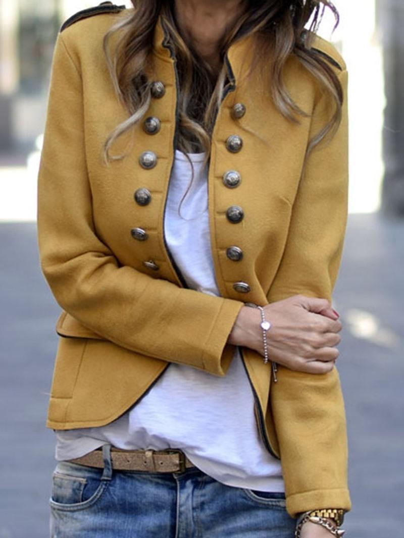 Ericdress Plain Double-Breasted Long Sleeve Standard Regular Casual Blazer