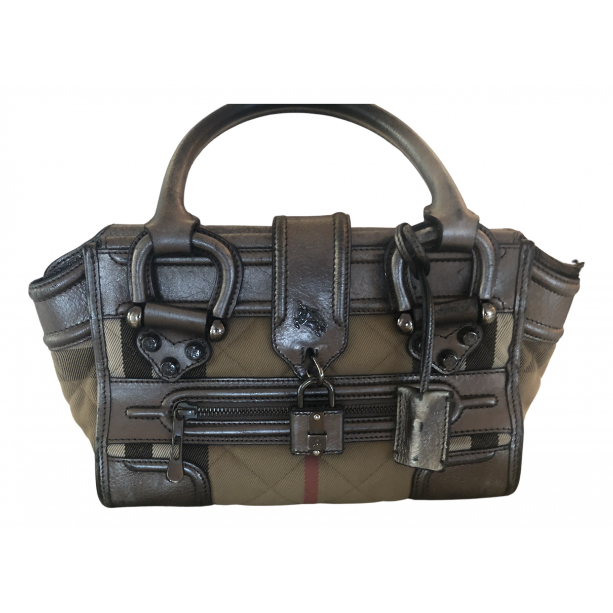 Burberry N Metallic Leather handbag for Women N
