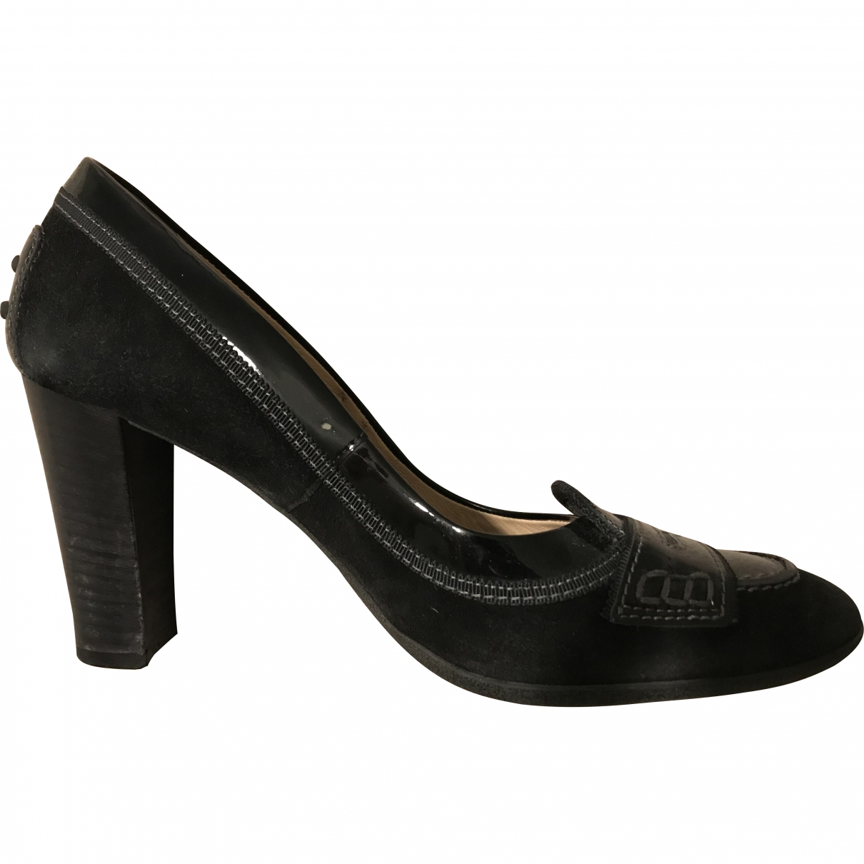 Tod's \N Black Leather Heels for Women 38 EU