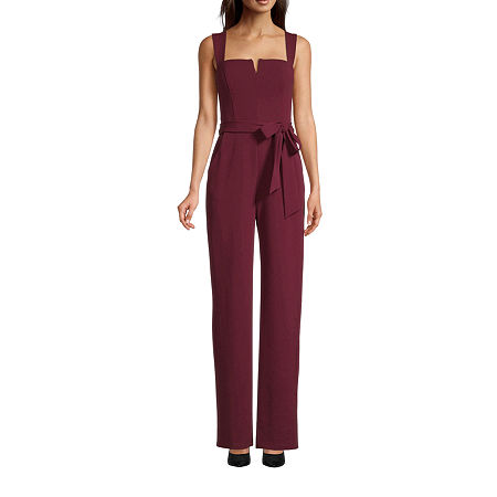Premier Amour Sleeveless Jumpsuit, 6 , Red