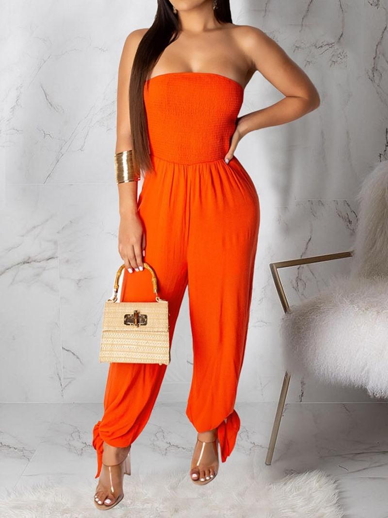 Ericdress Color Block Office Lady Slim Jumpsuit