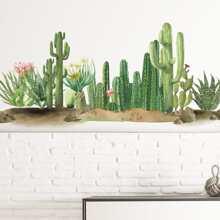 Wandaufkleber mit Kaktus Muster