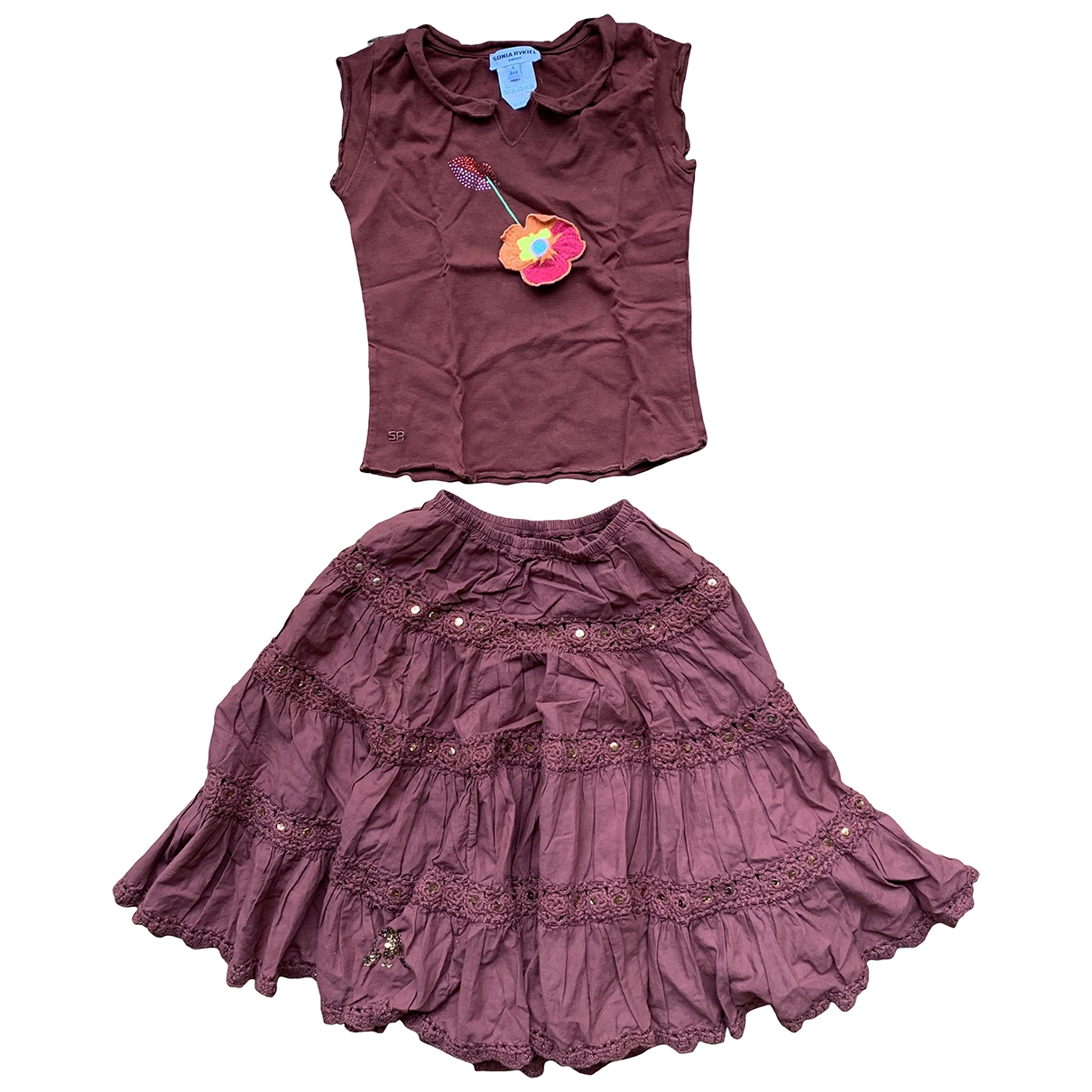 Sonia Rykiel \N Burgundy Cotton Outfits for Kids 6 years - up to 114cm FR