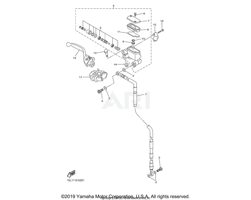 Yamaha OEM 5XC-25853-G0-00 FLOAT, RESERVOIR