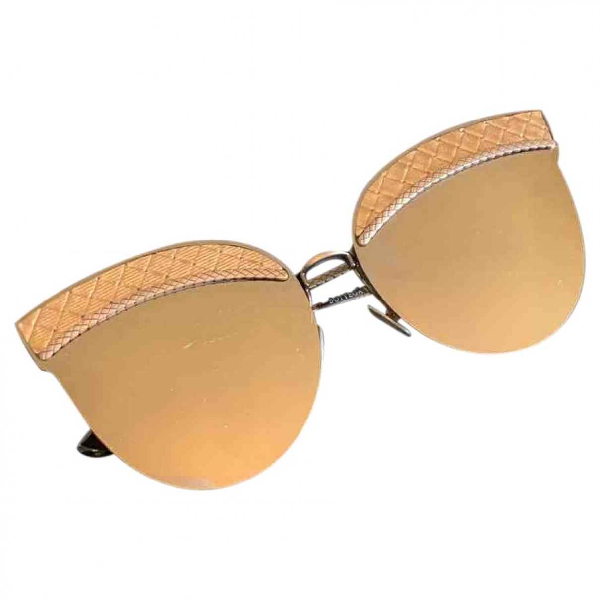 Bottega Veneta \N Sonnenbrillen in  Gold Metall
