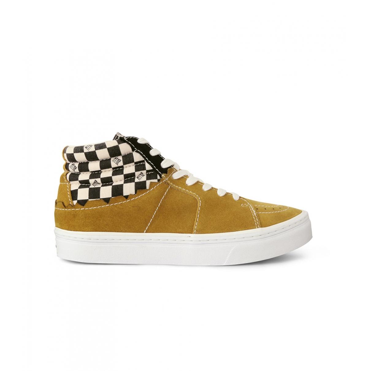 - Baskets   pour homme en suede - jaune