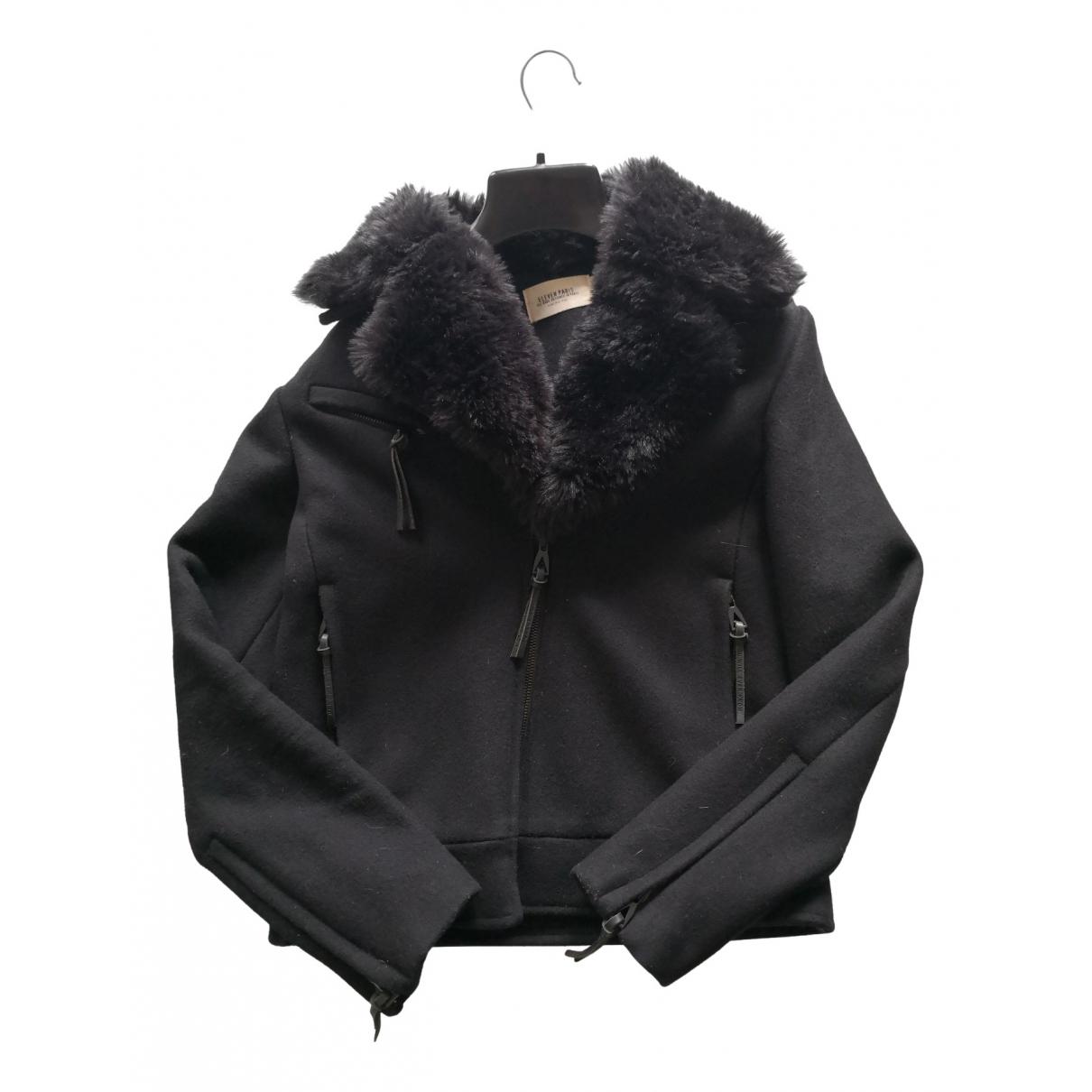 Eleven Paris - Blouson   pour femme en laine - noir