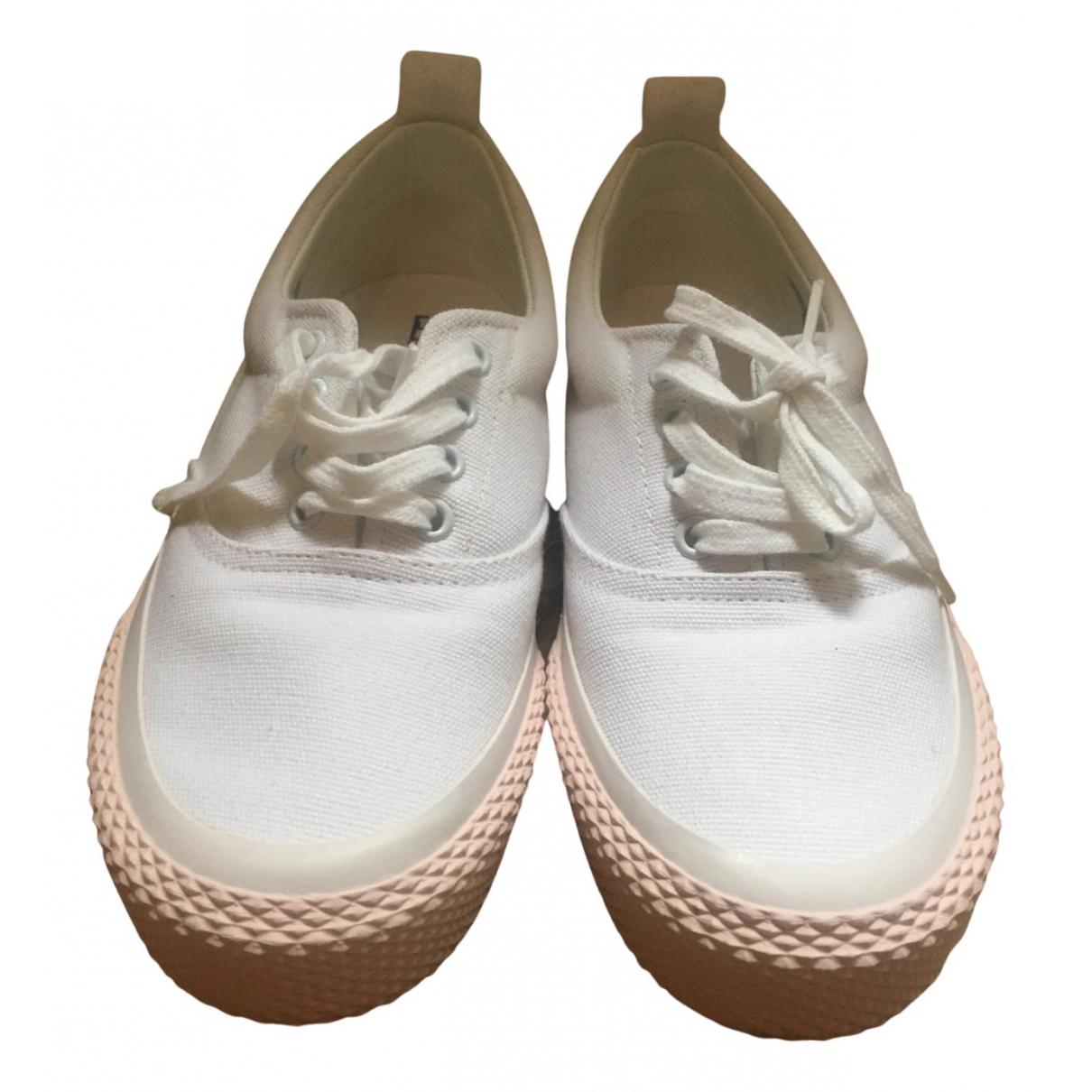 Celine - Baskets   pour femme en toile - blanc