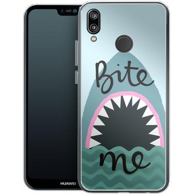 Huawei P20 Lite Silikon Handyhuelle - Bite Me von caseable Designs