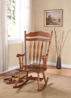 BM162977 Wooden Rocking Chair  Dark Walnut