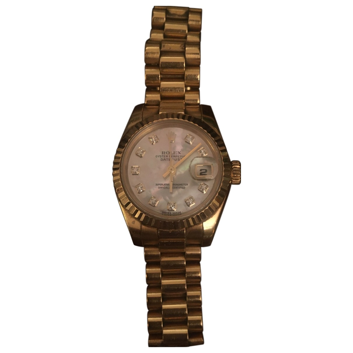 Rolex Lady Oyster Perpetual 24mm Uhr in  Gold Gelbgold