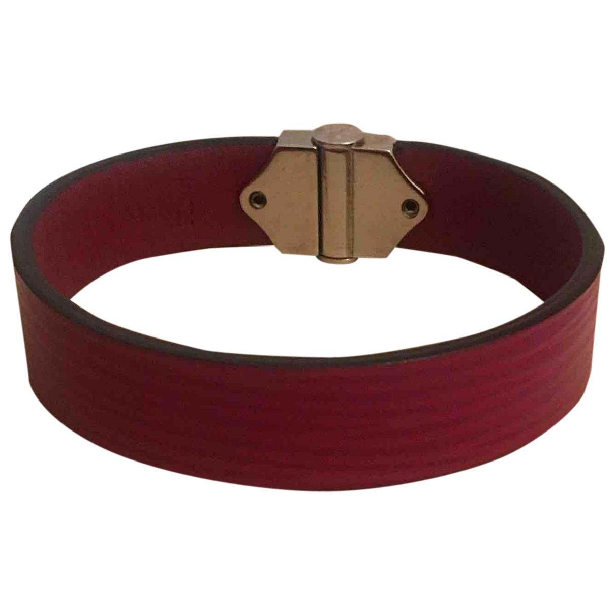 Louis Vuitton N Pink Leather bracelet for Women N