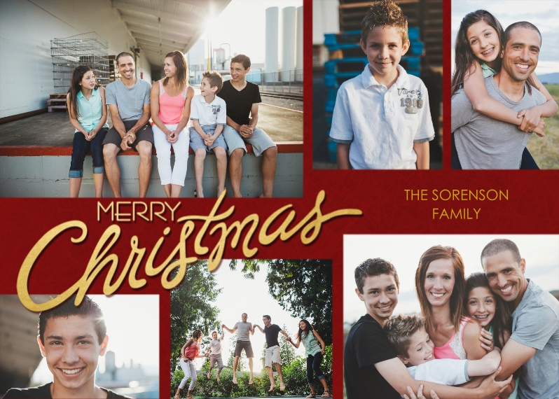 Christmas Photo Cards Flat Matte Photo Paper Cards with Envelopes, 5x7, Card & Stationery -Scripted Christmas