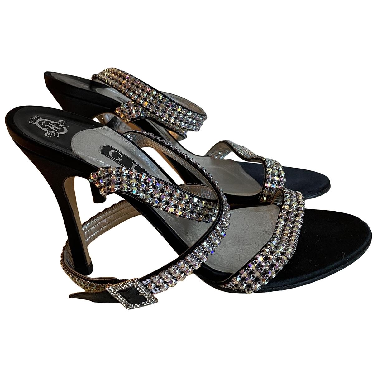 Gina \N Sandalen in  Silber Leder