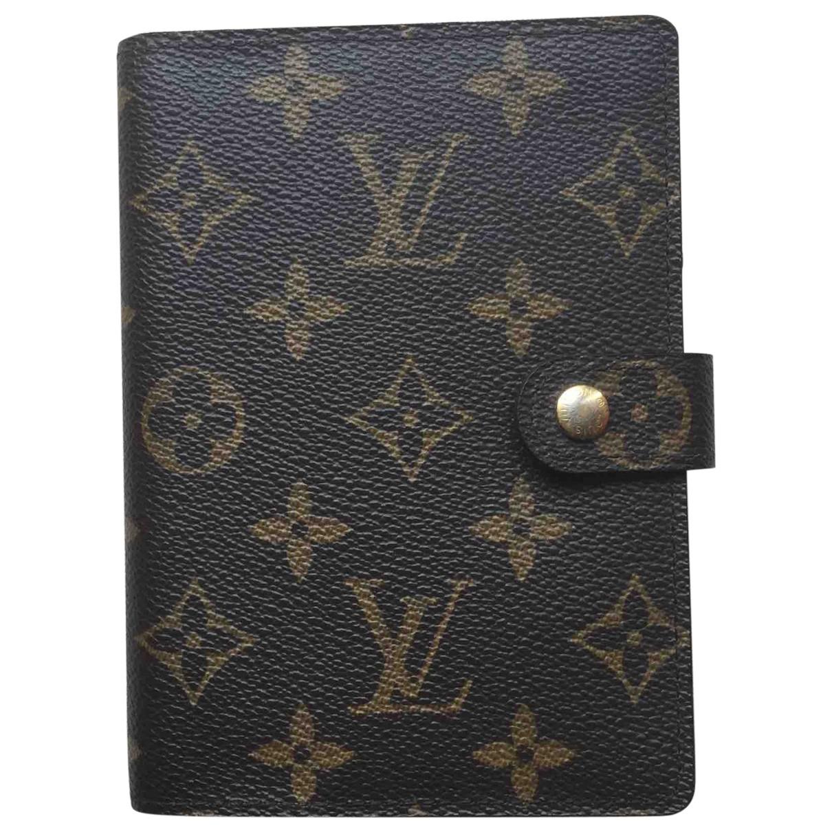 Louis Vuitton Couverture agenda de bureau Accessoires und Dekoration in  Braun Leinen