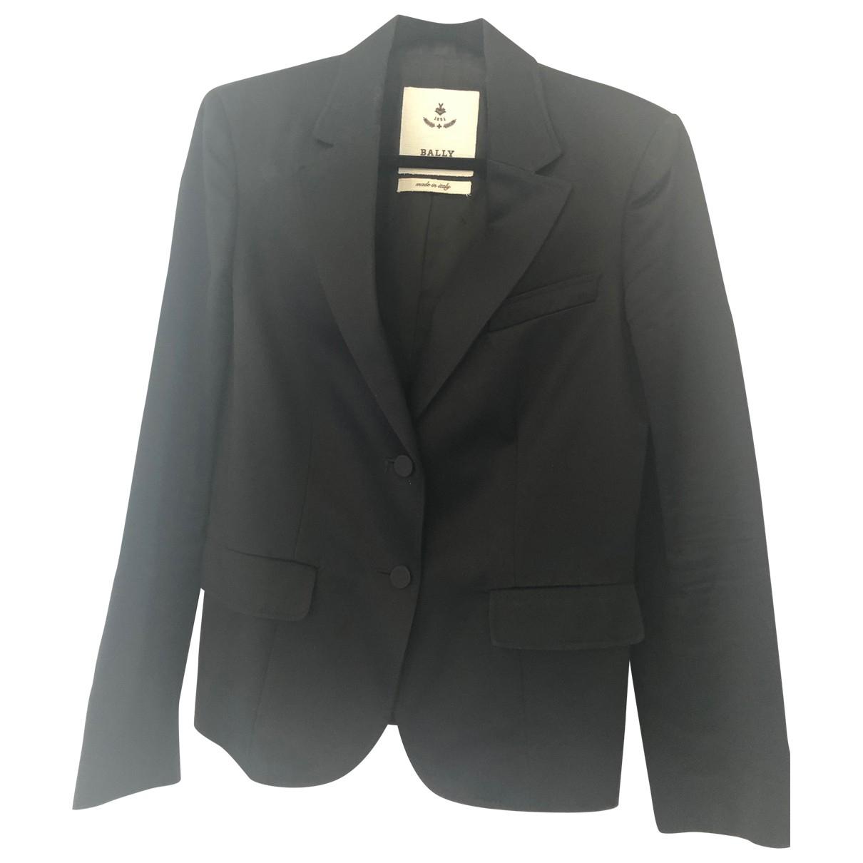 Bally \N Black Cotton jacket for Women 44 IT