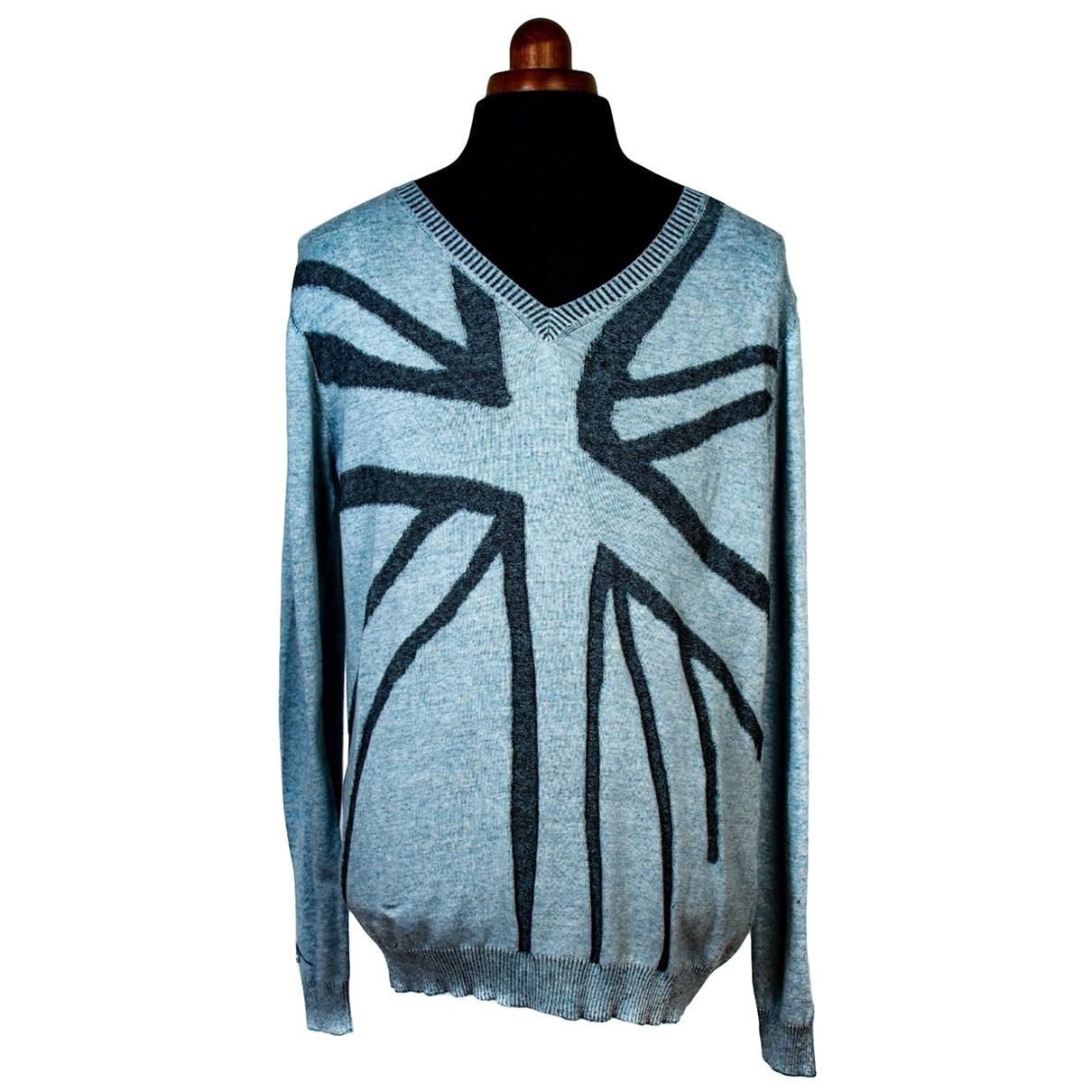 John Richmond \N Pullover.Westen.Sweatshirts  in  Blau Baumwolle