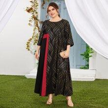 Vestidos Tallas Grandes Monocolor Elegante
