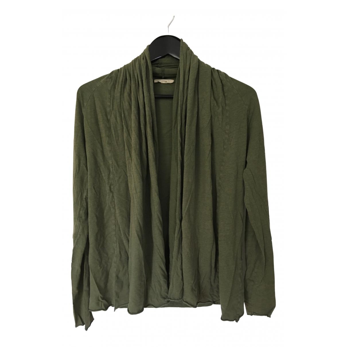 American Vintage - Pull   pour femme en coton - vert