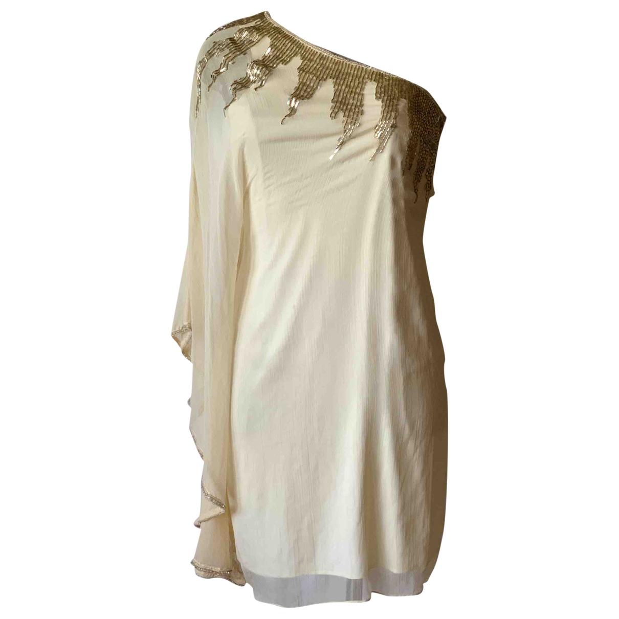 Class Cavalli \N Beige Glitter dress for Women 42 IT
