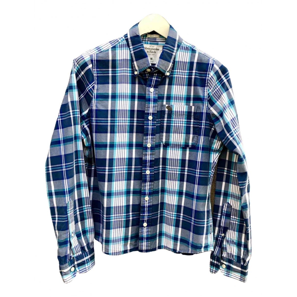 Abercrombie & Fitch \N Blue Cotton Shirts for Men M International
