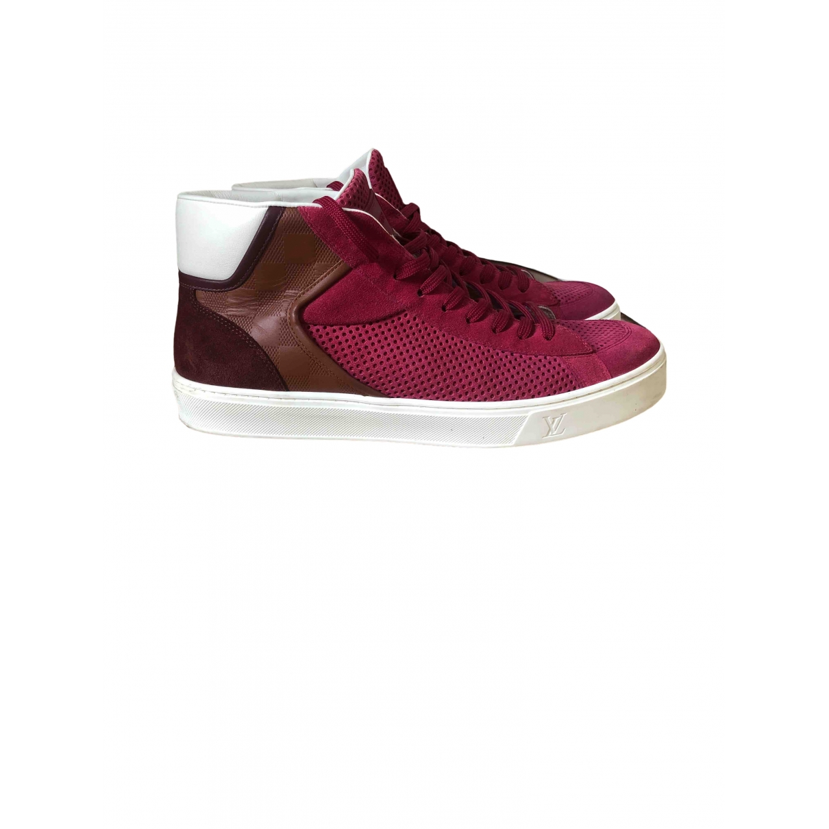 Louis Vuitton \N Burgundy Leather Trainers for Men 8 UK