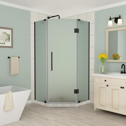 SEN966F-ORB-34-10 Merrick 34 To 34.25 X 72 Frameless Neo-Angle Shower Enclosure With Frosted Glass In Oil Rubbed