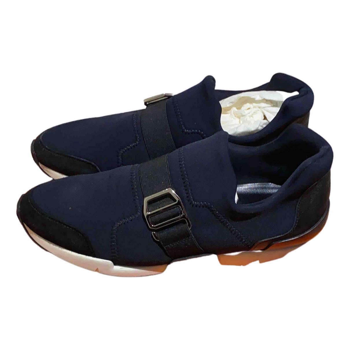 Hermes Run Sneakers in  Schwarz Leinen