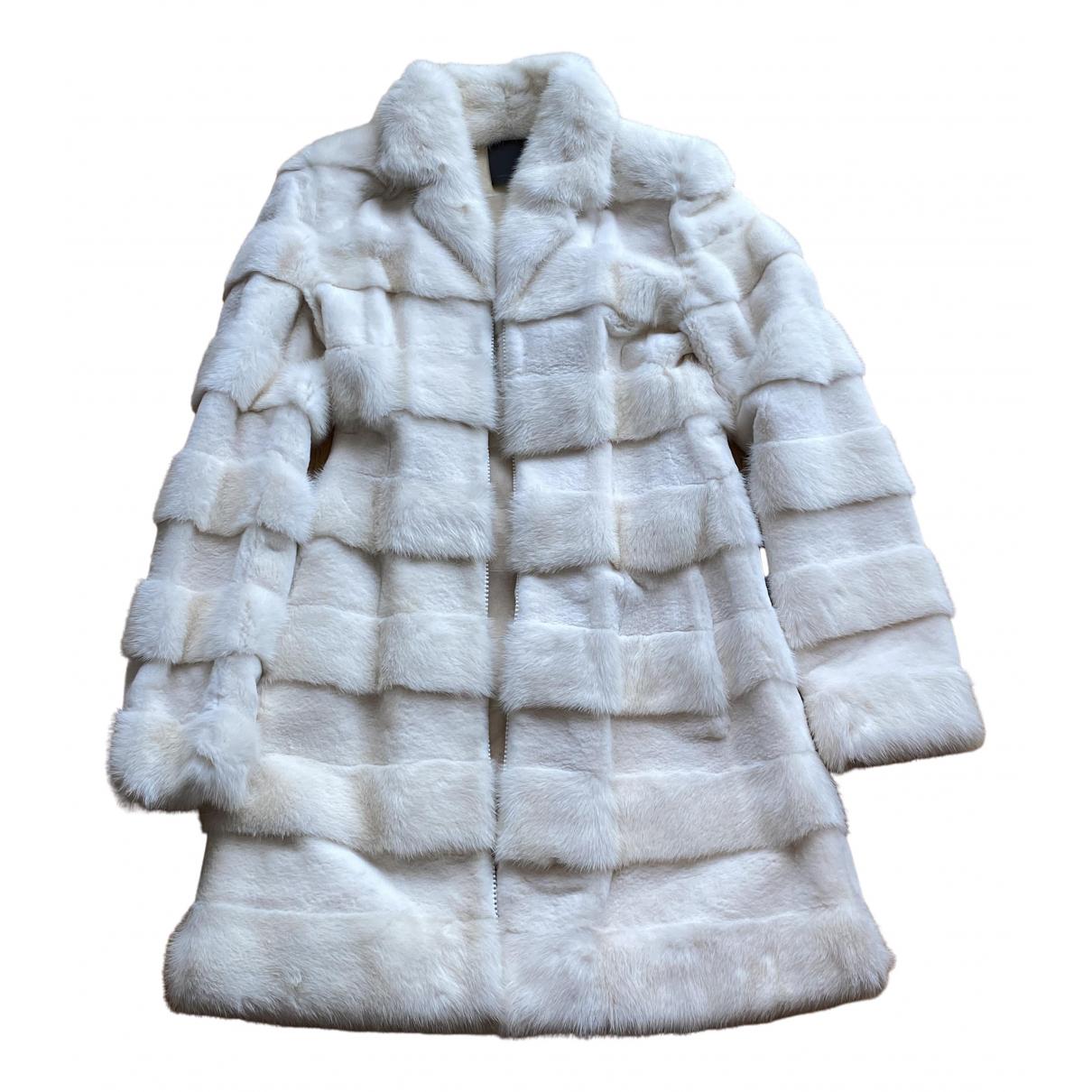 Fendi - Manteau   pour femme en vison - blanc
