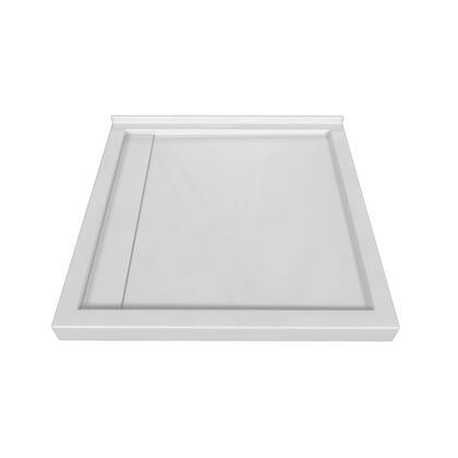 SBLDTT-4848-LD-WHT Tripple Threshold White Acrylic Linear Drain Shower Base