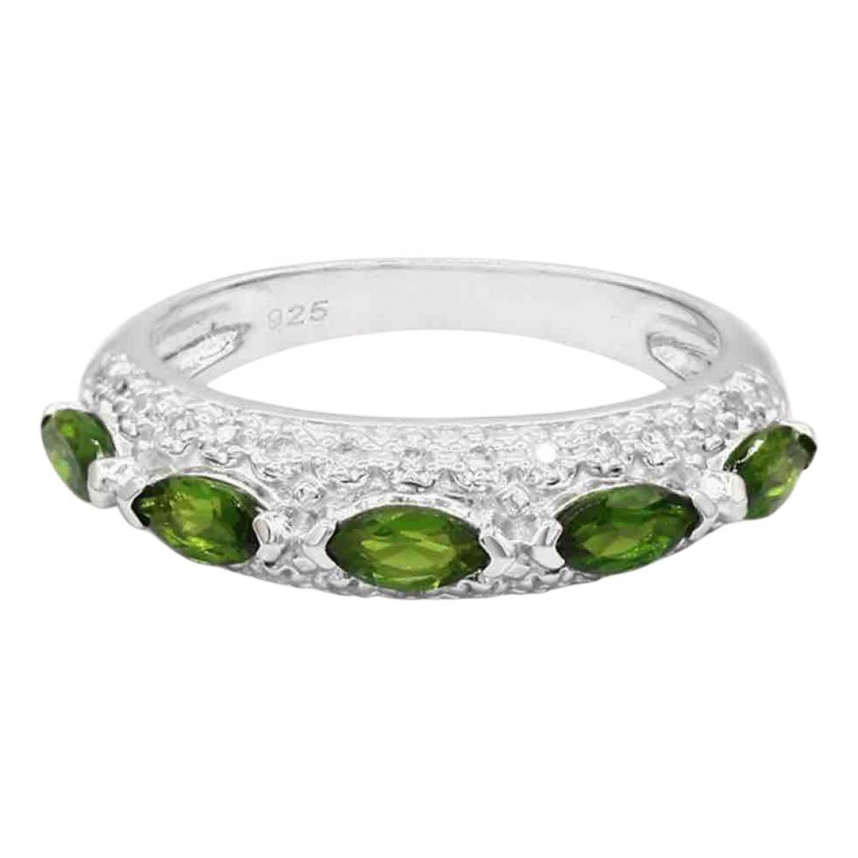 - Bague   pour femme en argent - vert