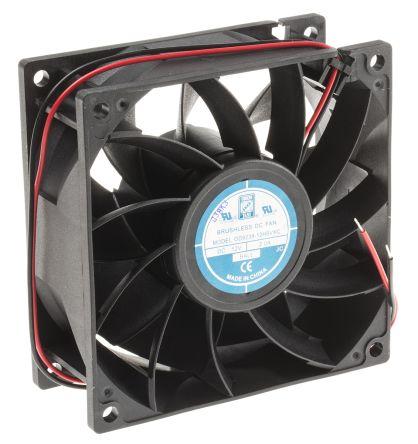 RS PRO , 12 V dc, DC Axial Fan, 92 x 92 x 38mm, 229.4m³/h, 16W