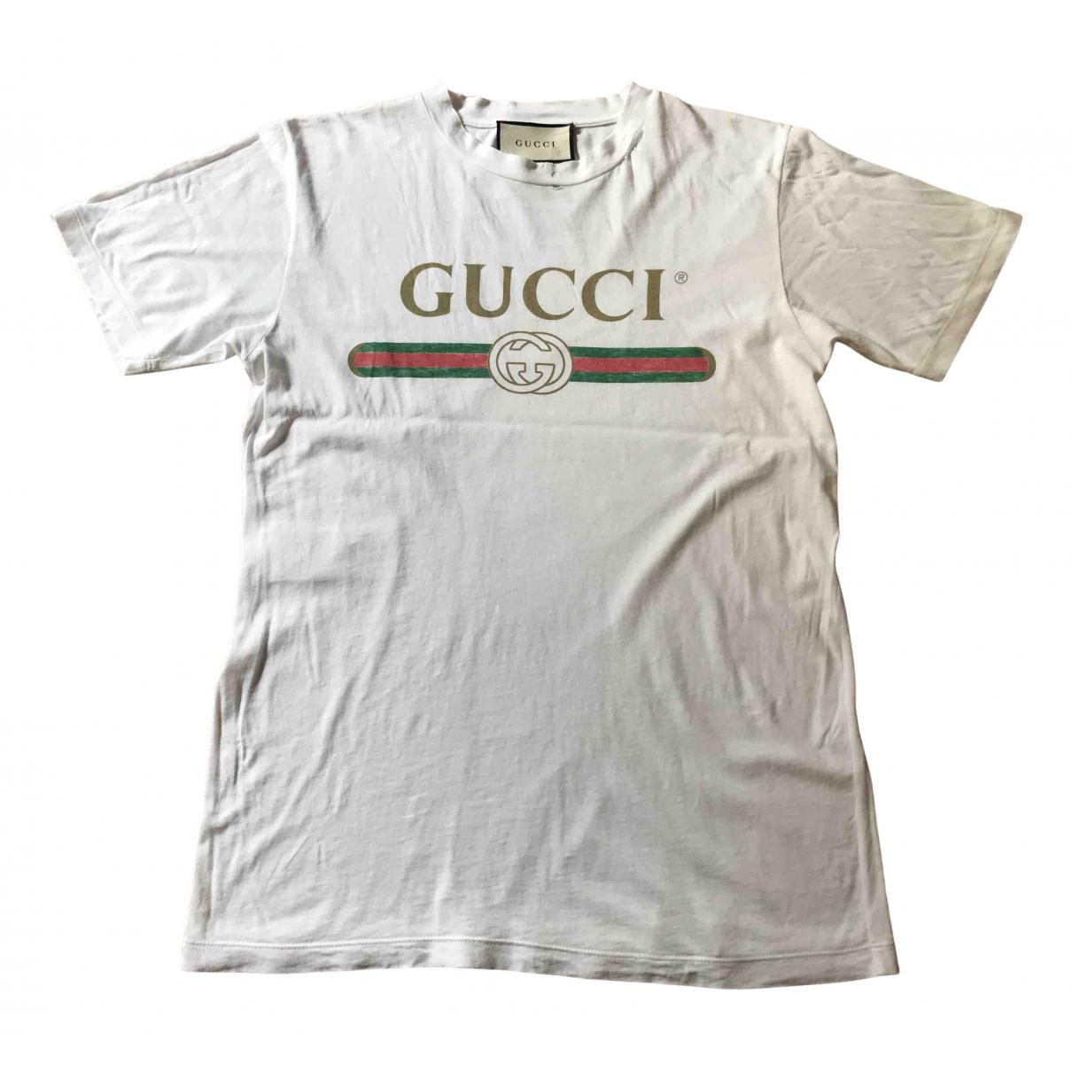 Gucci \N Top in  Weiss Baumwolle
