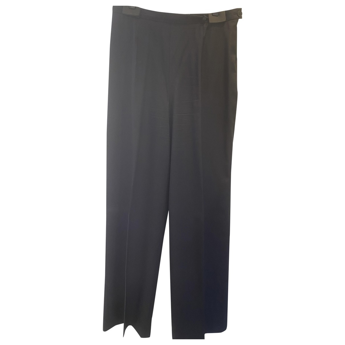 Givenchy \N Blue Wool Trousers for Women 42 FR