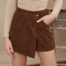 Shorts Boton Liso Casual