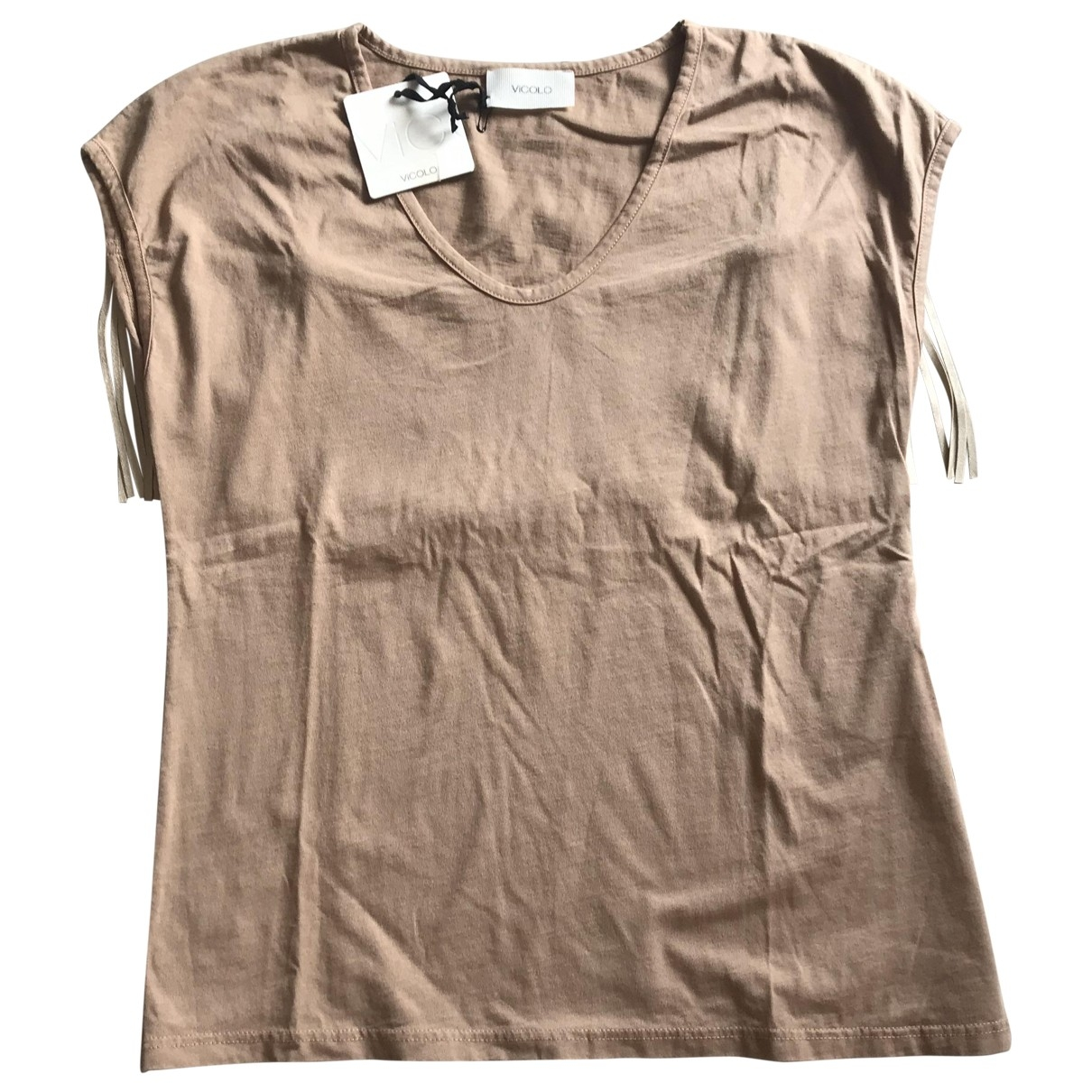 Vicolo \N Beige Cotton  top for Women One Size International