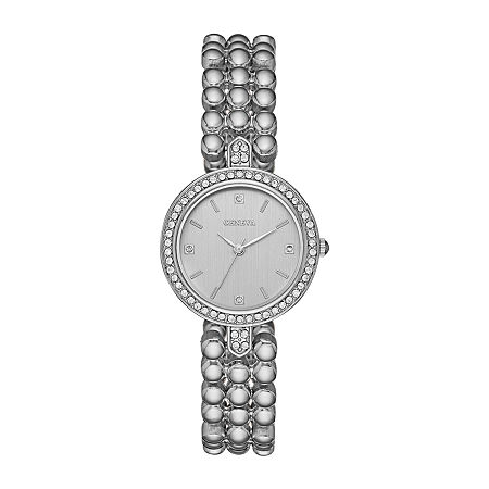 Geneva Womens Crystal Accent Silver Tone Bracelet Watch-Fmdjm207, One Size , No Color Family