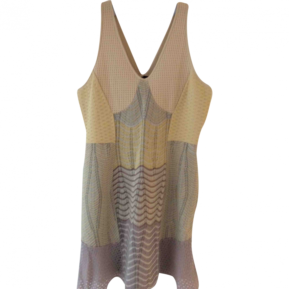M Missoni \N Beige Cotton - elasthane dress for Women 46 IT