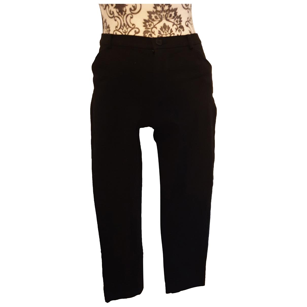 Lauren Ralph Lauren N Black Cotton Trousers for Women 34 FR